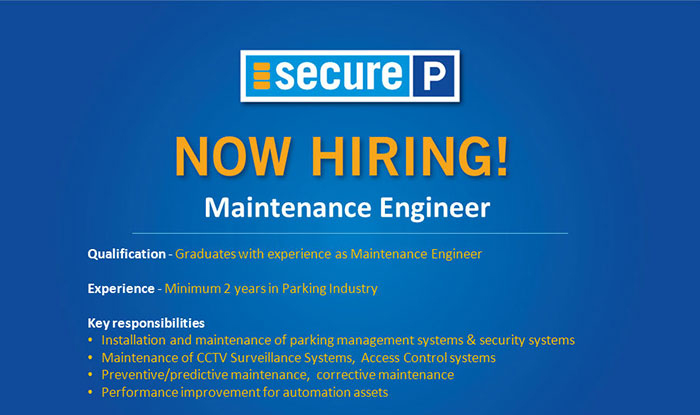 Maintenance Engineer SP
